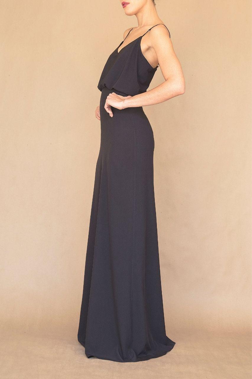 Vestido para damas de honor negro