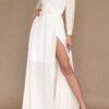 Vestido para damas de honor manga larga blanco