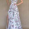 Vestido para damas de honor floreado