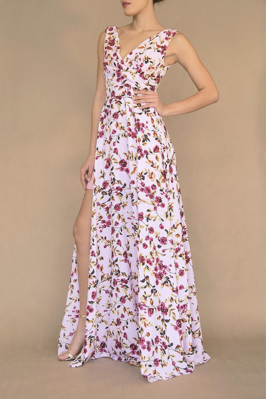 Vestido para damas de honor floreado