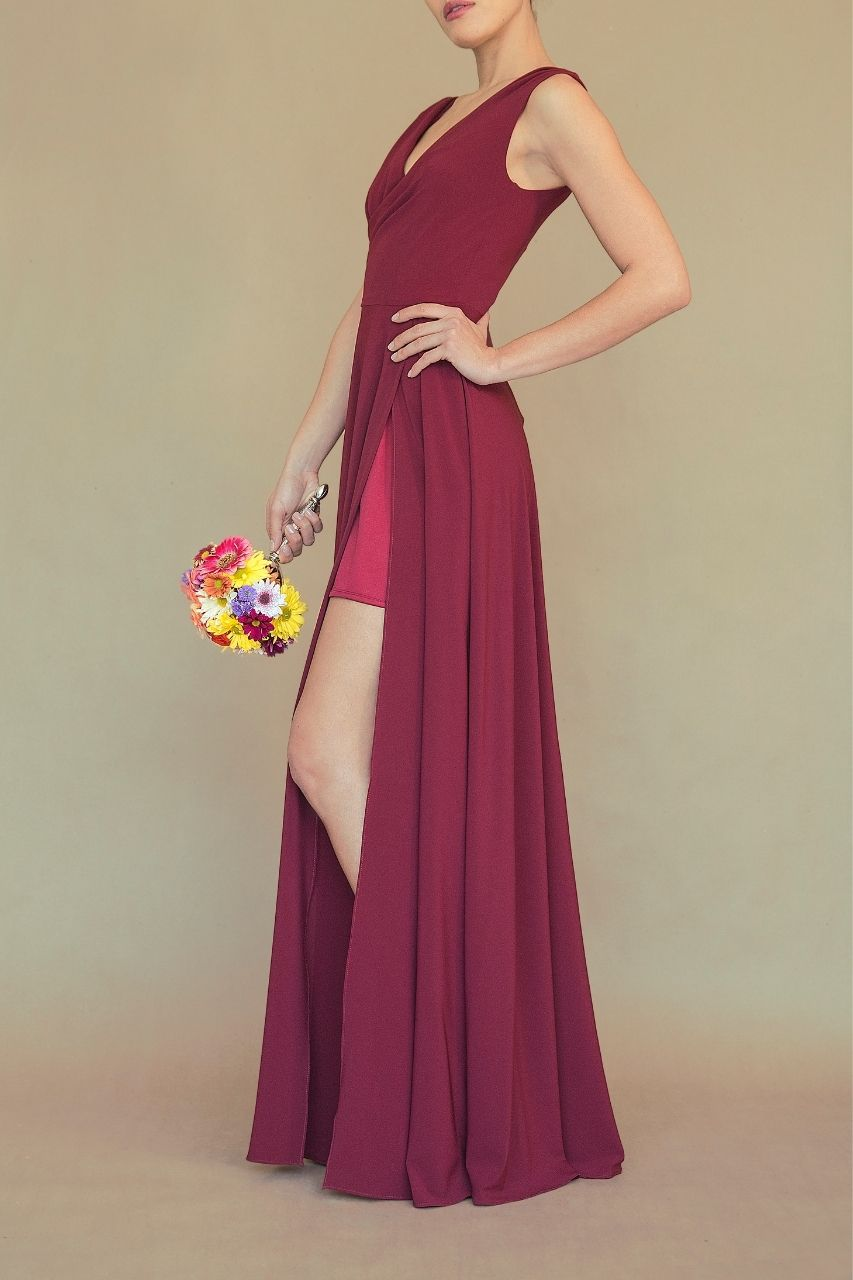 Vestido para damas de honor vino