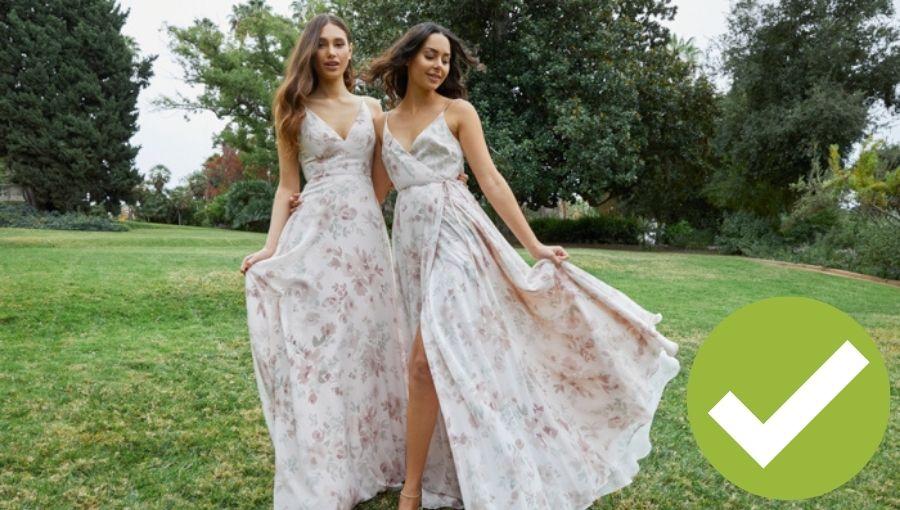 vestidos damas de honor telas estampadas